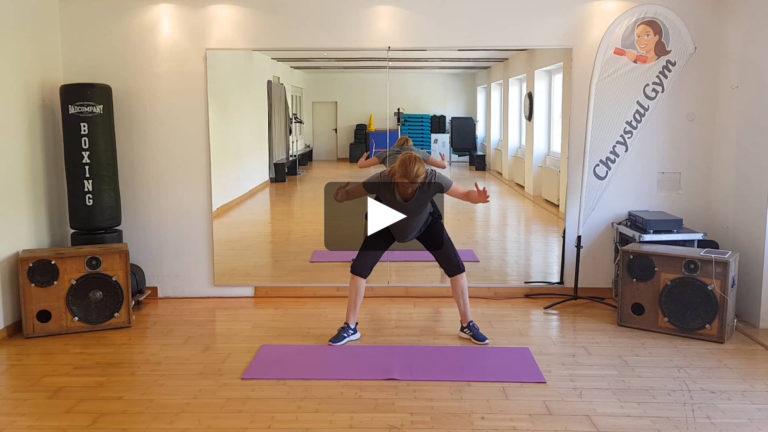 Klassische dynamische Rückengymnastik | Chrystal Gym Video