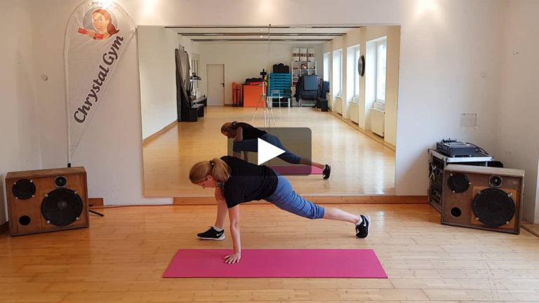Figur Gym zur Straffung der Beine und des Bauchs